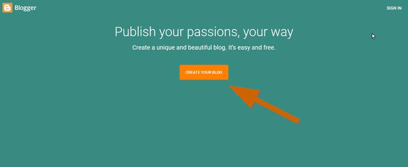 create a blogspot blog