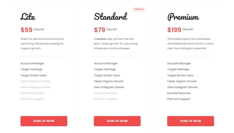 Upleap Pricing Plan