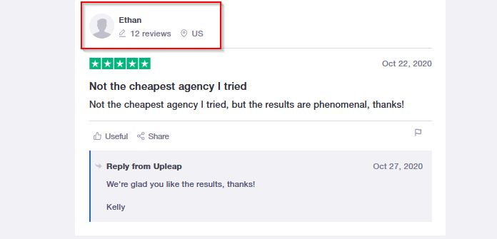 Upleap reviews on trustpilot