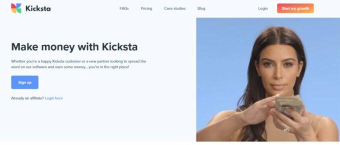 Kicksta affiliate program